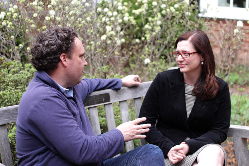 Raul Chao and Rebecca Goldberg talking